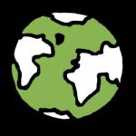 wereldbol pictogram groen