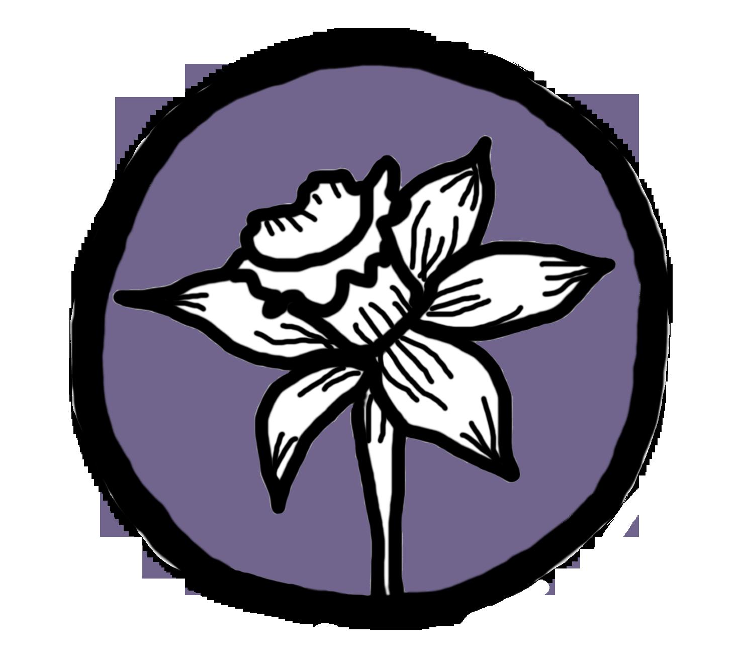 bloem pictogram paars