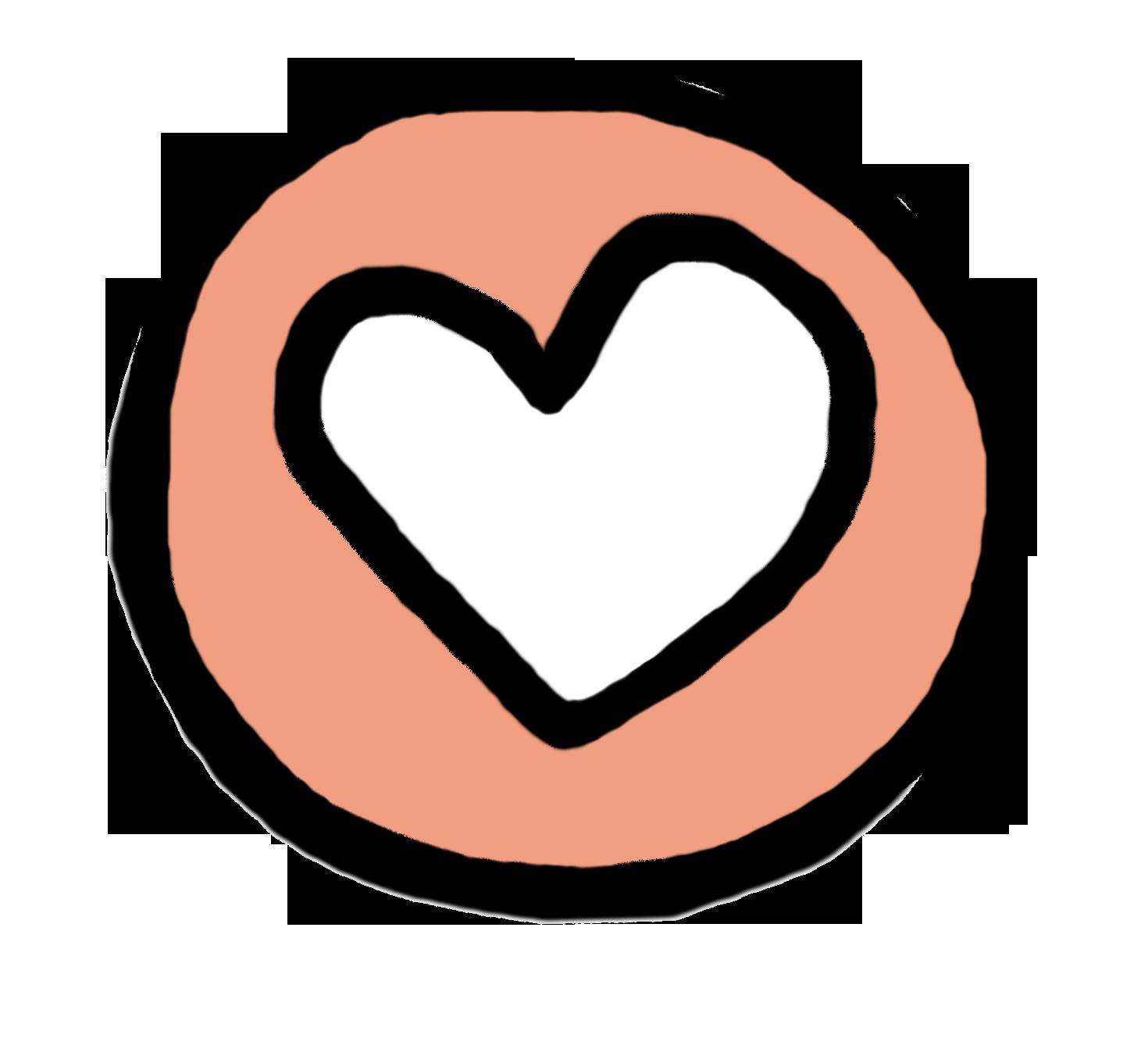 hart pictogram roze