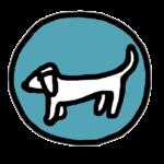 hond pictogram blauw